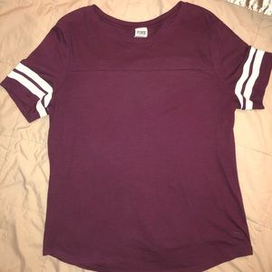 Victoria Secret PINK Campus Tee Size Large